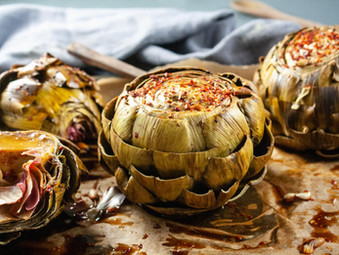 Grilled Asian Artichokes