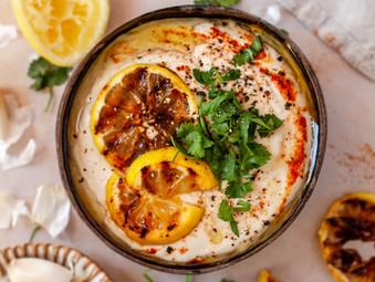 Roasted Lemon Bean Hummus