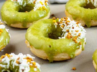 Matcha Glazed Donuts