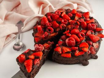 Double Chocolate Brownie Cake