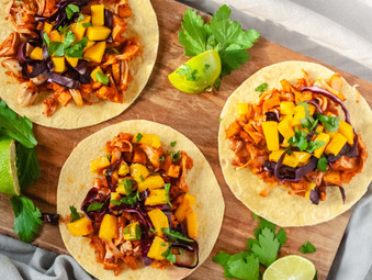 Mango BBQ Jackfruit  Tacos