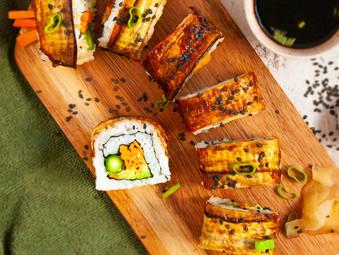 Eggplant Dragon Sushi Rolls