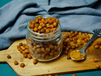 Crunchy Curry Chickpeas