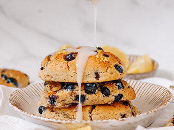 Blueberry & Lime Scones