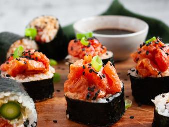 "Spicy ""tuna"" rolls"