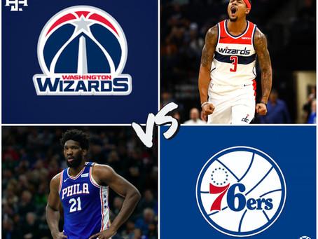 Wizards vs 76ers