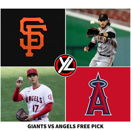 6/23/21 MLB FREE PICK GIANTS VS ANGELS