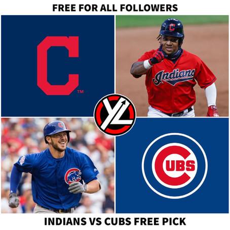 6/21/21 MLB FREE PICK INDIANS VS CUBS