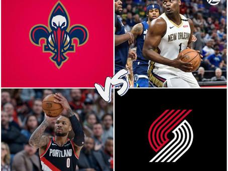 Pelicans vs Blazers