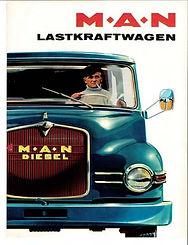 1964 - MAN-Anzeige im  Hamburger Verkehr
