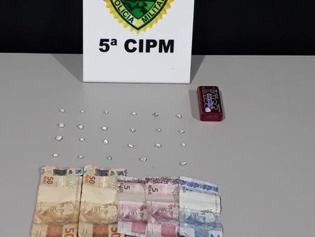 Menor de 17 anos já conhecido no meio policial é apreendido com 23 pedras de crack no 6 conjuntos
