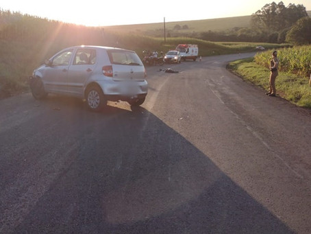 Motociclista de Goioerê morre em grave acidente na PR-472 em Rancho Alegre do Oeste