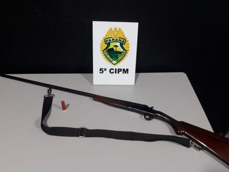 Polícia Militar de Japurá encaminha homem em posse de espingarda calibre .32 após Denúncias