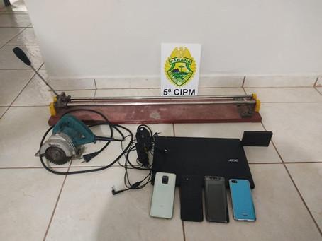 PM de Terra Boa encaminha seis pessoas acusadas de furto em residência, após dois discutirem na rua