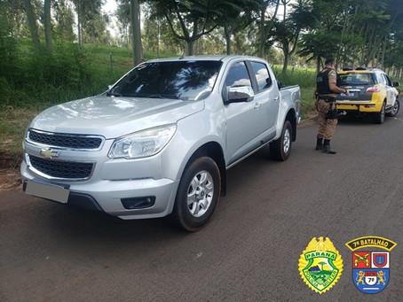 Equipe ROTAM do 7ºBPM apreende 3 veículos usados em contrabando durante patrulhamento na PR-323