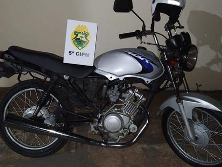 Durante perseguição, policiais apreende motocicleta com placas clonadas em Cianorte