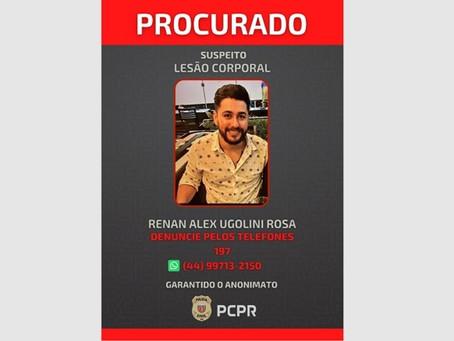 PC de Cianorte divulga foto de fugitivo da cadeia acusado de agredir ex-mulher