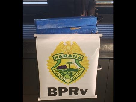 Polícia Rodoviária apreende maconha durante fiscalização em ônibus de linha na PR-323
