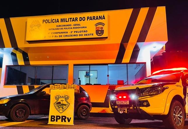 Policiais rodoviários apreendem mais de 26Kg de maconha durante operação na PR-323