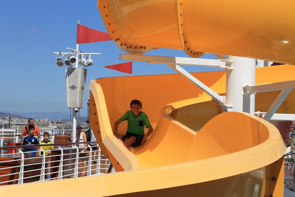 Disney Cruise Line Mickey water slide