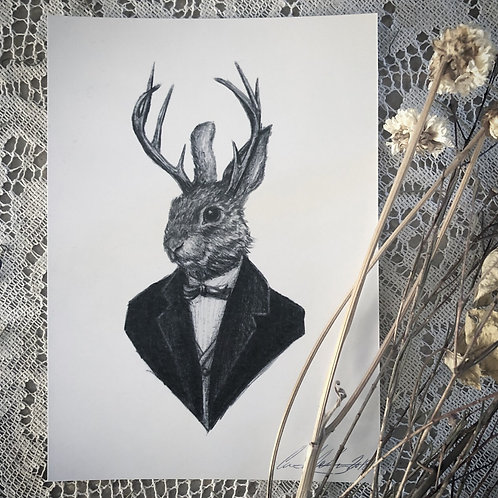 Dapper Jackalope - Fine Art Print