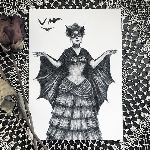 Victorian Bat Lady - Fine Art Print