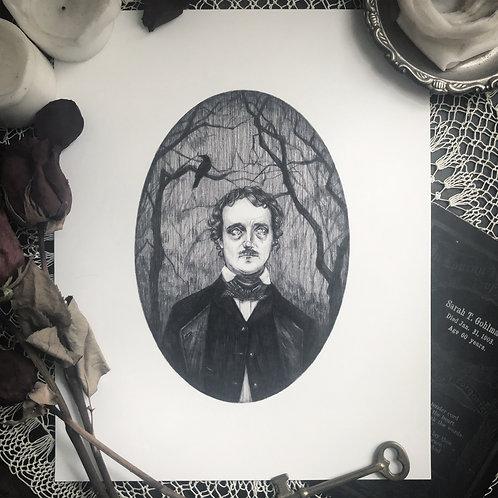 Edgar Allan Poe - Fine Art Print