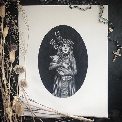 Saint Agnes- Fine Art Print