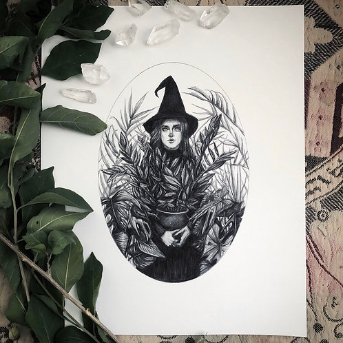 Green Witch - Fine Art Print