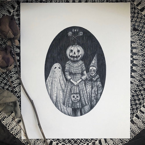 Trick or Treat - Fine Art Print