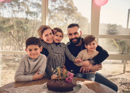 Family portrait in our Gazebo.