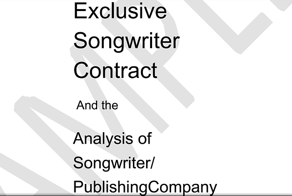 The Singles' Set - Contracts and Agreements*