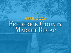 Frederick County Housing Market Recap: April 2020