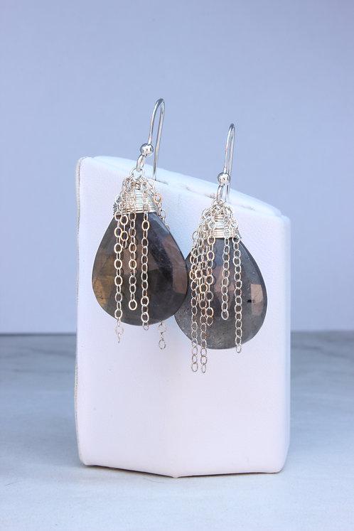 Labradorite & Sterling Silver Earrings