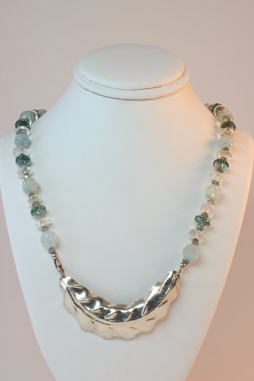 Mixed Gemstone & Sterling Silver beaded Necklace
