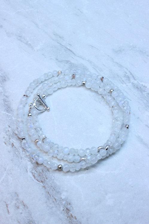 Moonstone & Sterling Silver Wrap Bracelet