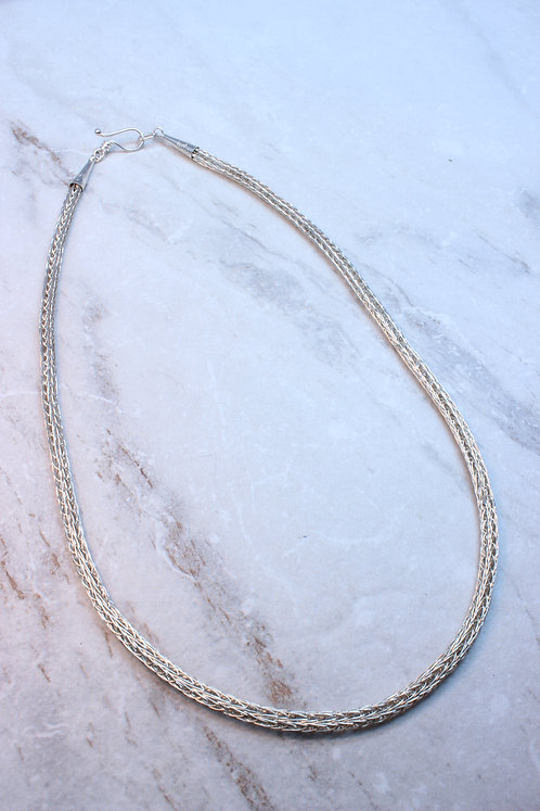 Sterling Silver Viking Knit Chain