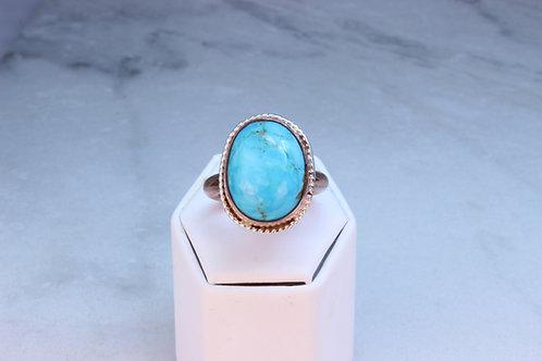 Kingman Turquoise & Copper Ring