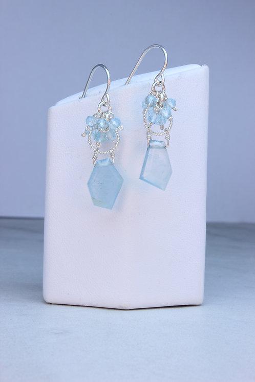 Aquamarine & Sterling Silver Earrings
