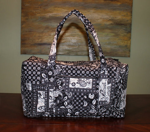 Black and White Duffel Bag