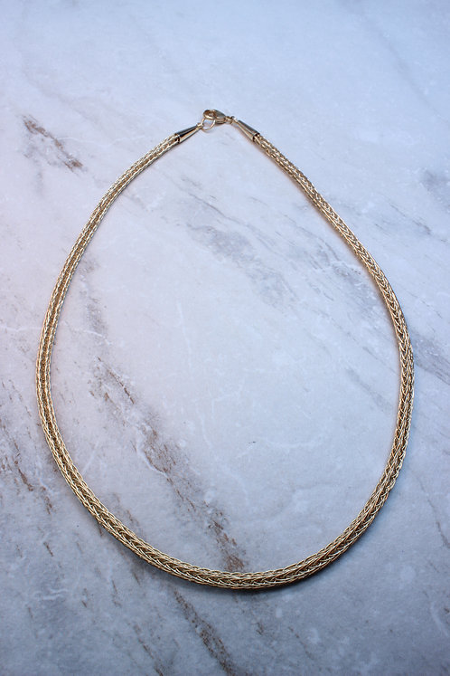 Gold Filled Viking Knit Chain