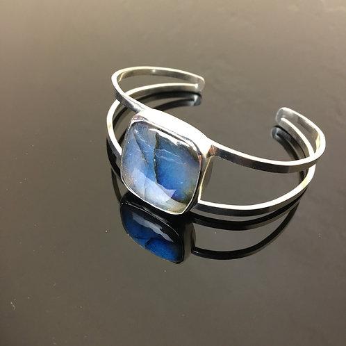 Labradorite & Sterling Silver Cuff Bracelet