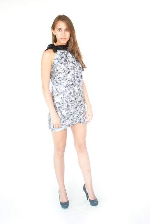 Black & White Asian Inspired Mini Dress