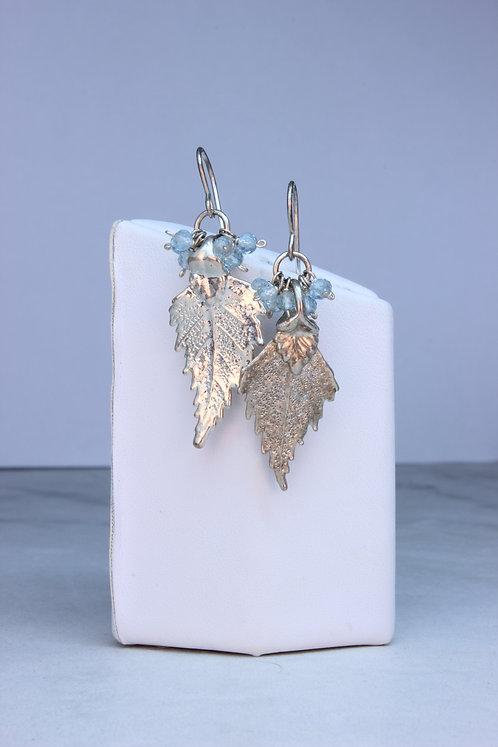 Blue Topaz & Sterling Silver Earrings