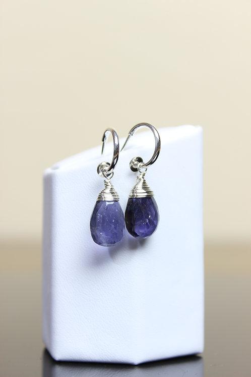 Tanzanite & Sterling Silver Dangle Earrings