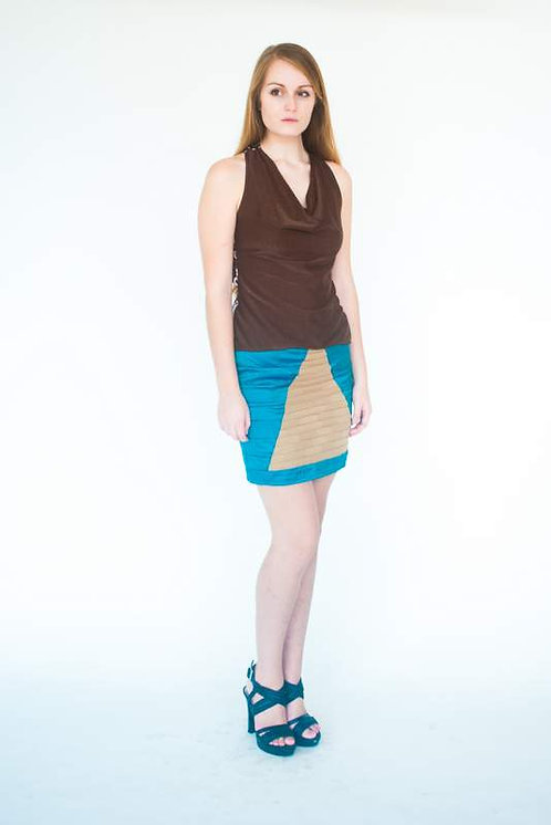 Chocolate Knit Scoop Neck & Cross back Top  Size 0
