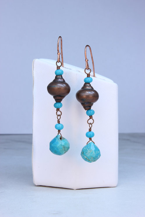 Nacozari Turquoise & Copper Earrings
