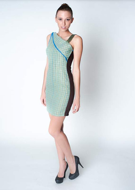 Spring Tweed with Beaded Strap Spring Dress