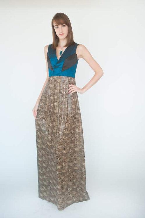 Trendy Silk Taffeta Evening Dress   Size 0-2