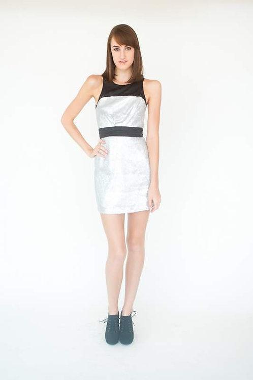 Black & Silver Sequin Mini Date Night Dress Size 0
